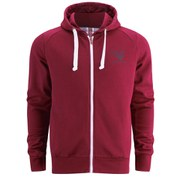 Gola Men's Circle Print Full Zip Hoody - Burgundy