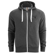 Gola Men's Circle Print Full Zip Hoody - Charcoal