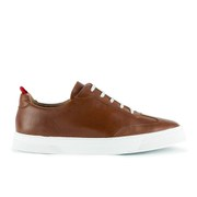 Oliver Spencer Men's Upper St. Leather Trainers - Brandy