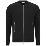 J.Lindeberg Men's Randall Quilted Zip Through Sweatshirt - Black