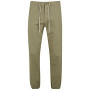 YMC Men's Military Beach Garment Dyed Herringbone Twill Trousers - Khaki