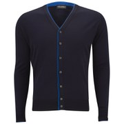 John Smedley Men's Farne Slim-Fit Extrafine Merino Cardigan - Midnight/Maritime