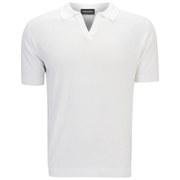 John Smedley Men's Noah Slim Fit Sea Island Cotton Skipper Collar Polo Shirt - White