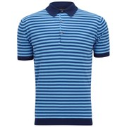 John Smedley Men's Jaedon Slim-Fit Sea Island Cotton Polo Shirt - Indigo