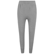 John Smedley Women's Sea Island Cotton Rib-Cuffed Trousers - Silver