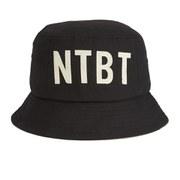 Wood Wood NTBT Logo Bucket Hat - Black