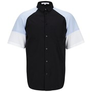 Carven Men's Baseball Short Sleeve Shirt - Black