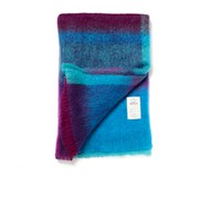 Avoca Mohair Brittas Throw (142 x 100cm) - Turquoise/Pink/Purple