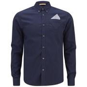 Scotch & Soda Men's Long Sleeve Fixed Pocket Shirt - Marine