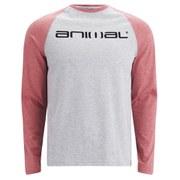 Animal Men's Locket Raglan Long Sleeve T-Shirt - Grey Marl