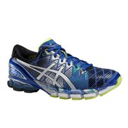 Asics Men's Gel Kinsei 5 Cushioning Running Shoes - Blue/White/Emerald Green