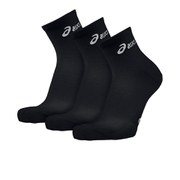 Asics 3 Pack Quarter Running Socks - Black