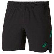 Asics Men's 7 Inch Running Shorts - Black/Jungle Green