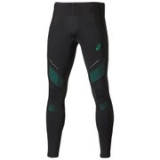 Asics Men's Leg Balance Running Tights - Black/Jungle Green