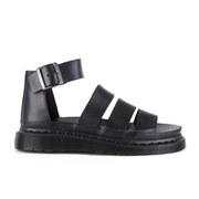 Dr. Martens Women's Shore Clarissa Chunky Strap Leather Sandals - Black Brando