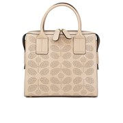 Orla Kiely Women's Margot Sixties Stem Punched Leather Bag - Fawn