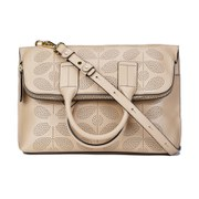 Orla Kiely Women's Juniper Sixties Stem Punched Leather Bag - Fawn