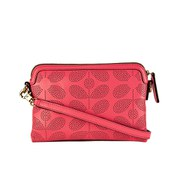 Orla Kiely Women's Poppy Sixties Stem Punched Leather Bag - Pink