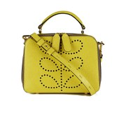 Orla Kiely Women's Mini Bay Textured Leather Cross Body Bag - Lemon