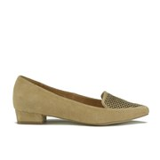 Ravel Women's Anaconda Suede Pointed Flat Shoes - Tan