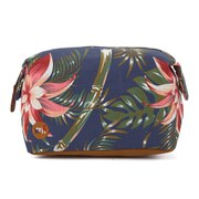 Mi-Pac Palm Floral Make Up Bag - Blue