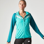 Myprotein dámska Panel Zip Through mikina s potlačou - teal