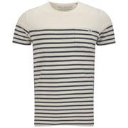 Jack & Jones Men's Striped Iron T-Shirt - Lily White