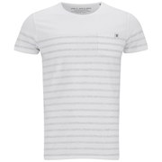 Jack & Jones Men's Striped Iron T-Shirt - White
