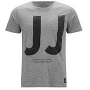 Jack & Jones Men's JJ Box T-Shirt - Grey Marl