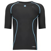 Skins A200 Active Compression Short Sleeve Top - Black/Blue