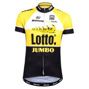 Santini Lotto Jumbo 15 Short Sleeve Jersey - Yellow/Black
