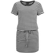 Six Ames Women's Ramona Drawstring Dress - Stripe White/Black