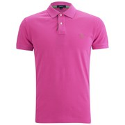 GANT Men's Contrast Collar Pique Polo Shirt - Pink