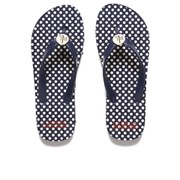Lauren Ralph Lauren Women's Elissa II Polka Dot Flip Flops - Navy/Eggshell