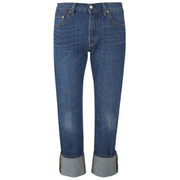 Levi's Women's 501 Cali Cool Mid Rise Tapered Jeans - Dark Indigo