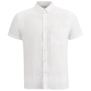 American Vintage Men's Short Sleeve Linen Shirt - White