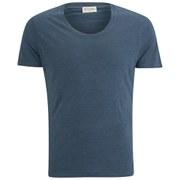 American Vintage Men's Scoop Neck Short Sleeve T-Shirt - Navy