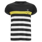 Ringspun Men's Finkle Stripe T-Shirt - Black