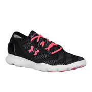 Under Armour Women's SpeedForm Apollo Vent Running Shoes - Black/White/Pink Shock