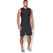 Under Armour Men's Armour Heat Gear Sleeveless Training T-Shirt - Black/Steel