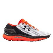 Under Armour Men's Speedform Gemini Running Shoes - White/Bolt Orange/Black