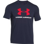 Under Armour Men's Sportstyle Logo T-Shirt - Midnight Navy/Red/White