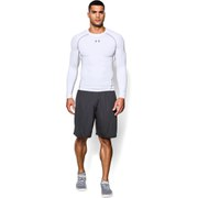 Under Armour Men's Armour Heat Gear Long Sleeve Compression Training Top - White/Graphite