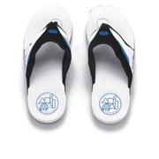 Animal Men's Fader Premium Flip Flops - White
