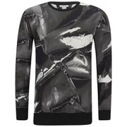 Helmut Lang Men's Aerial Print Terry Sweatshirt - Black
