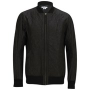 Helmut Lang Men's Crinkled Quilt Bomber Jacket - Black