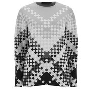 Alexander Wang Women's Degrade Weave Crew Neck Sweatshirt - Pavement