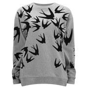 McQ Alexander McQueen Women's Classic Sweatshirt - Grey Melange