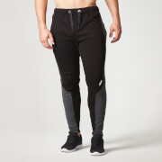 Myprotein Men's Panelled Slimfit Sweatpants with Zip - Black