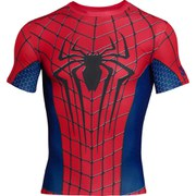 Under Armour Men's The Amazing Spider-Man 2 Compression Short Sleeved T-Shirt - Red/Blue